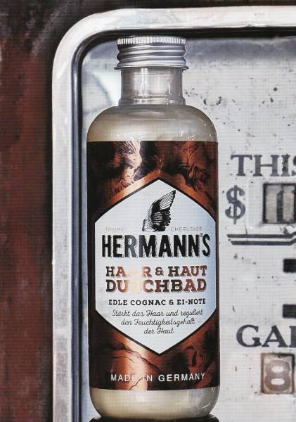 Herrmann´s Haar & Haut Duschbad - Edle Cognac & Ei-Note