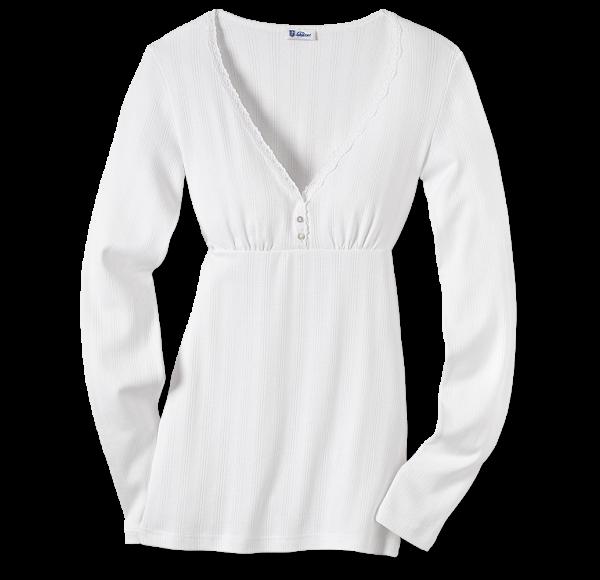 Schiesser Revival - Shirt 1/1-Arm AGATHE weiß