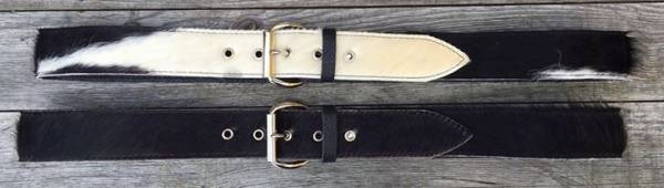 Real COW-HIDE BELT, width 40 mm colours: black or black with white top