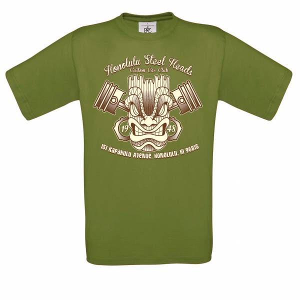T-SHIRT TIKI Honolulu Steel Heads grün