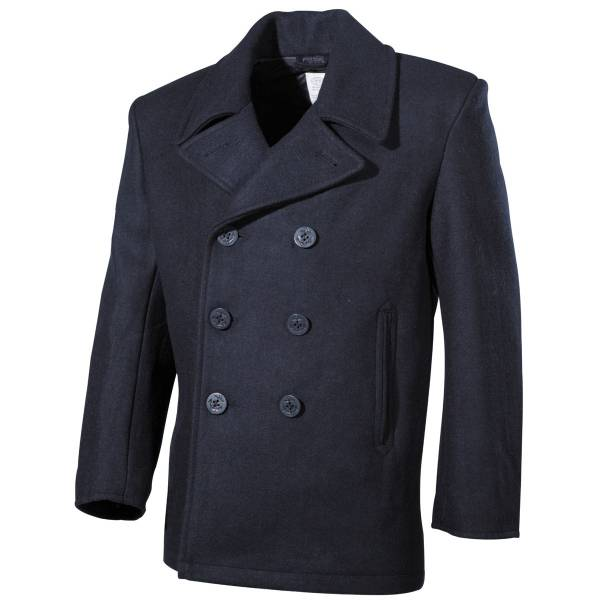 US Navy Pea Coat, blau