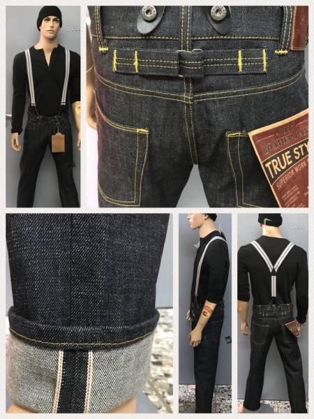 Pike Brothers 1937 Roamer Pant 12 oz. blue black - Aktion inkl. Hosenträger !