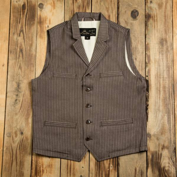 Pike Brothers 1908 Buccaneer Vest brown wabash