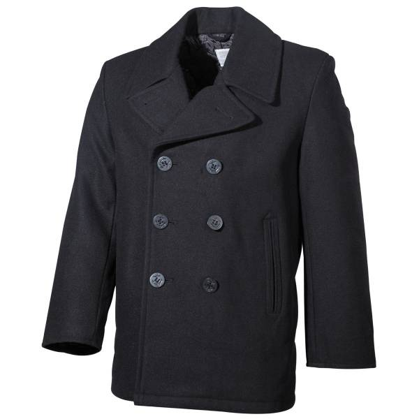 US Navy Pea Coat, schwarz