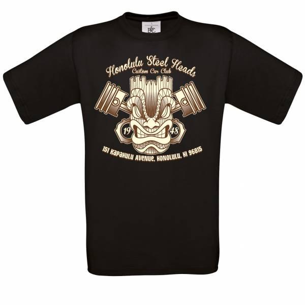 T-SHIRT TIKI Honolulu Steel Heads schwarz