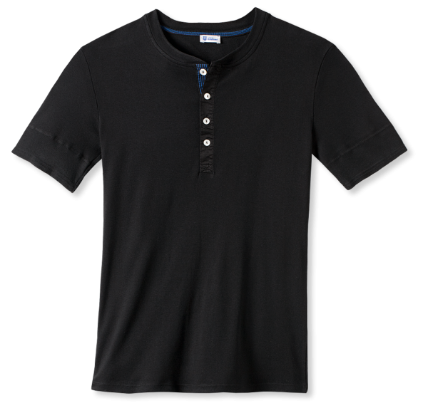 Schiesser Revival - 1/2 sleeve Shirt KARL-HEINZ black