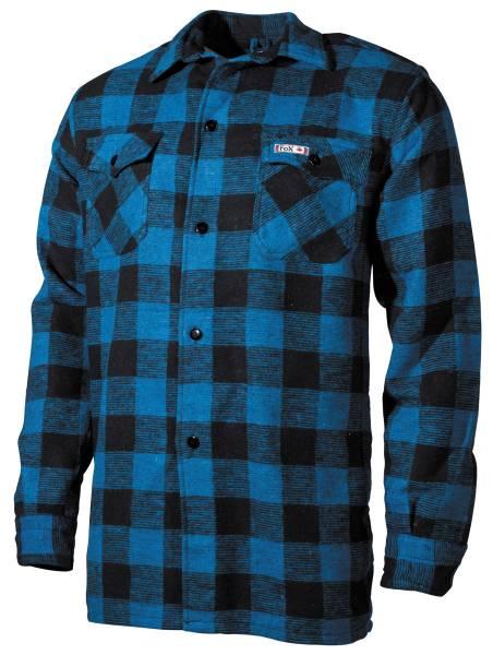 Holzfällerhemd, Flanell blau/schwarz kariert