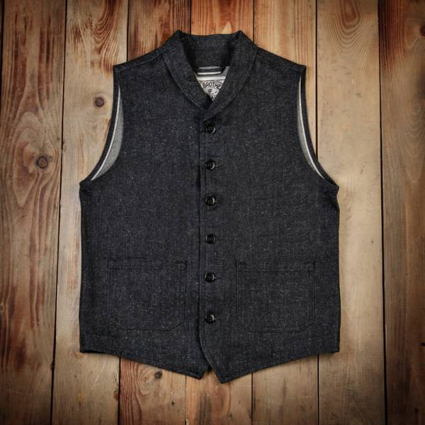 Pike Brothers 1908 Miner Vest 14oz hemp denim