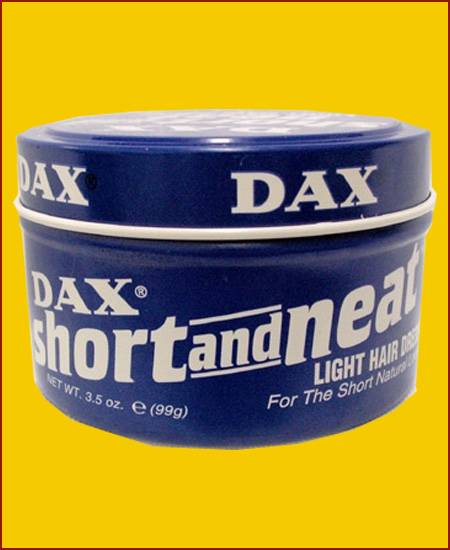 DAX Short and neat light hair dress Blau
