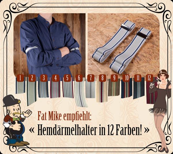 ÄRMELHALTER, 25mm breit, verschiedene Designs