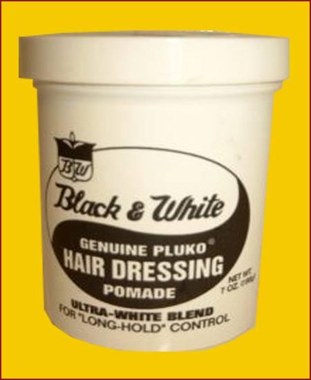 Black and White Hair dressing Pomade