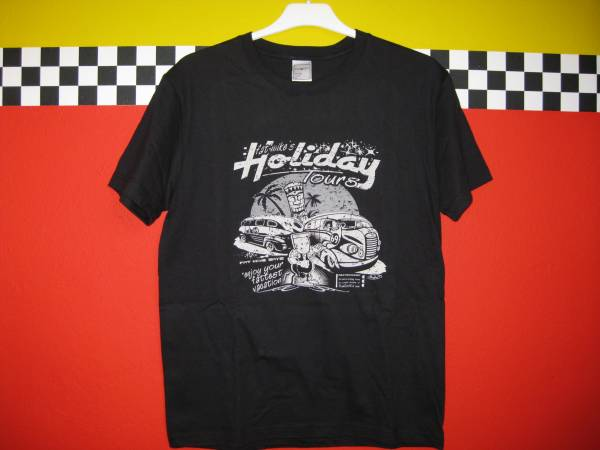 T-SHIRT Fat Mikes Holiday Tours in schwarz oder hellbraun