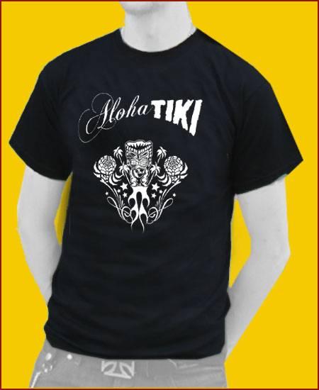 T-SHIRT TIKI Aloha Tiki schwarz