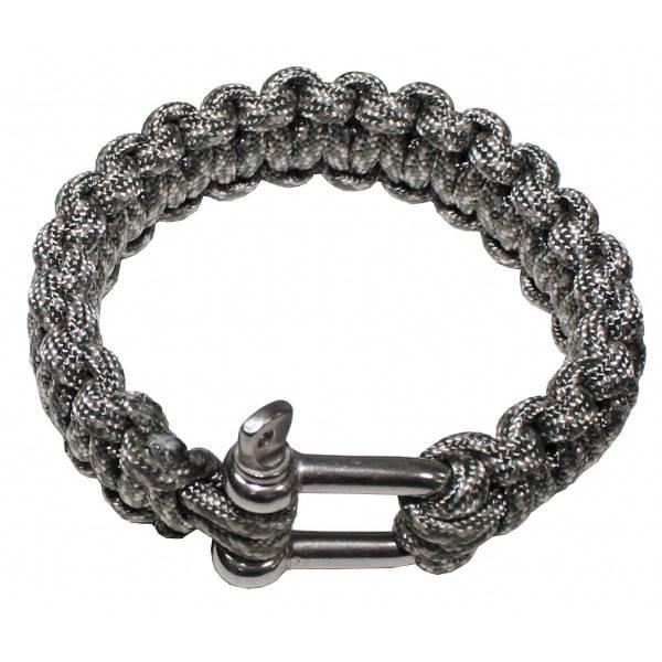 Armband, Paracord, silber, Metallverschluss, Breite 2,3 cm