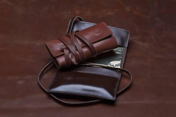 Ehrenvoll Tabakbeutel aus Kalbsleder, cognacbraun oder dunkelbraun