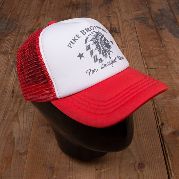 Pike Brothers 1967 Trucker Cap PB Logo chief red