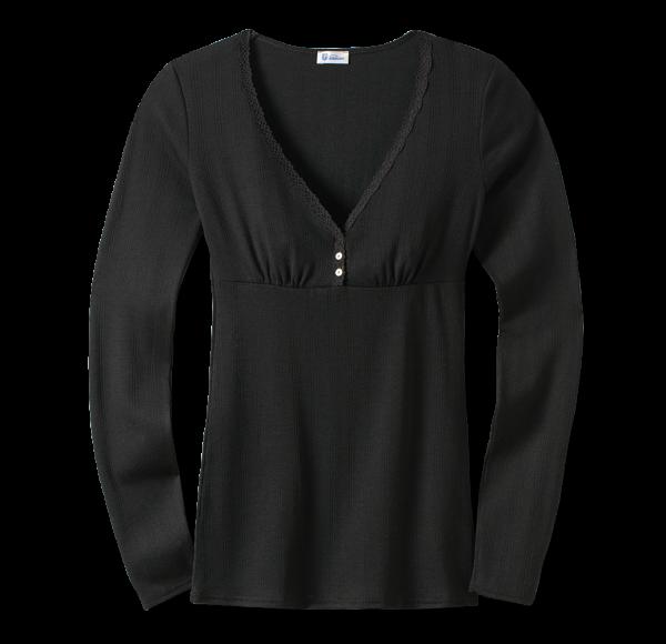 Schiesser Revival - Shirt 1/1-Arm AGATHE schwarz