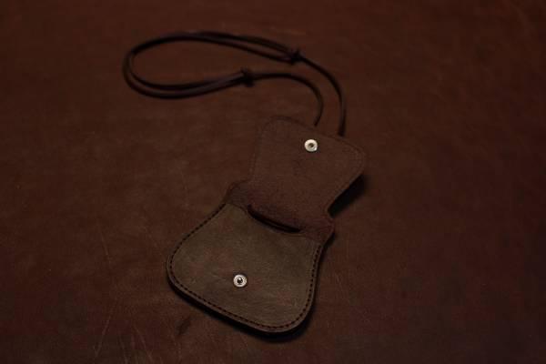 Brustbeutel aus Vollrindleder, dunkelbraun