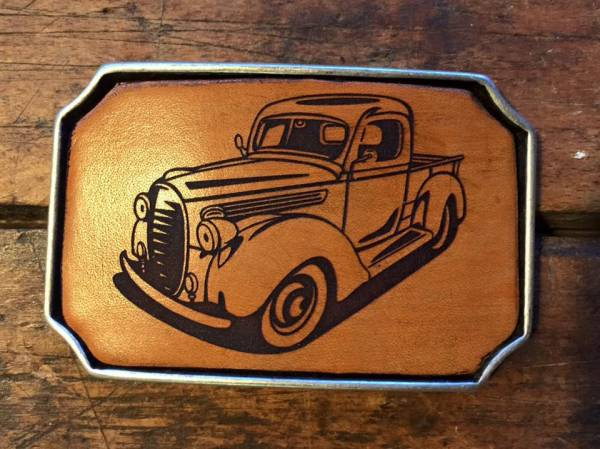 BUCKLE - OLDTIMER 094 - brown