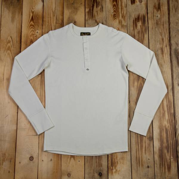 1954 Utility Shirt Long Sleeve heavy rib ecru